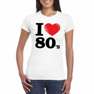 I love eighties t shirt wit dames