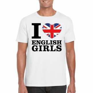 I love english girls vakantie t shirt engeland heren
