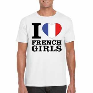 I love french girls vakantie t shirt frankrijk heren