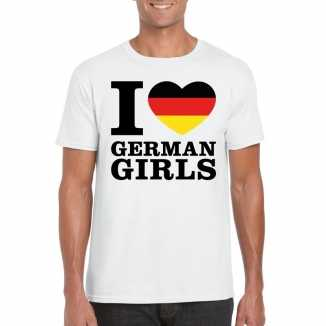 I love german girls vakantie t shirt duitsland heren