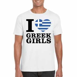I love greek girls vakantie t-shirt griekenland heren
