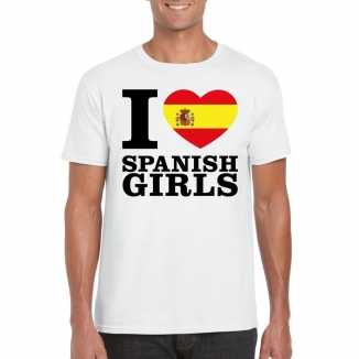 I love spanish girls vakantie t shirt spanje heren