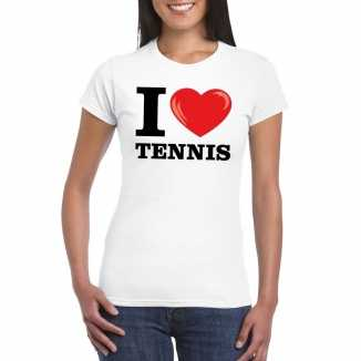 I love tennis t-shirt wit dames