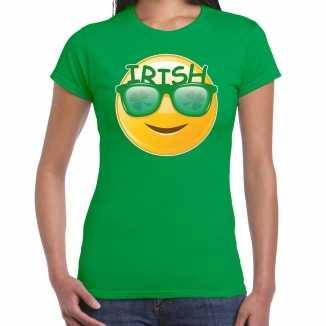 Irish smiley / st. patricks day t shirt / kostuum groen dames