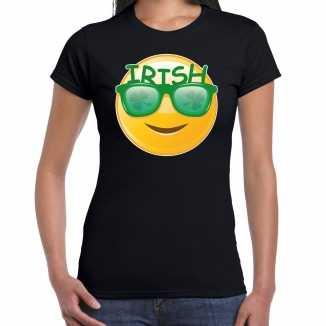 Irish smiley / st. patricks day t shirt / kostuum zwart dames