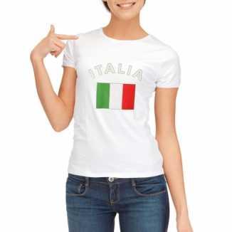 Italiaanse vlaggen t shirt dames