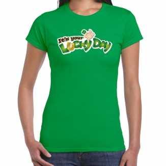 Its your lucky day / st. patricks day t shirt / kostuum groen dames