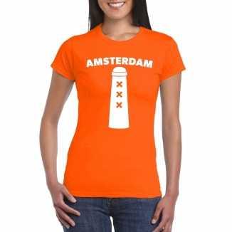 Koningsdag amsterdam shirt amsterdammertje oranje dames