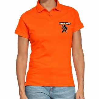 Koningsdag poloshirt holland leeuw oranje dames