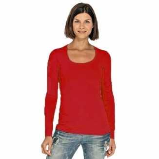 Lange mouwen rood dames shirt