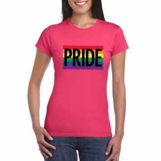 Lesbo shirt pride regenboog vlag dames roze