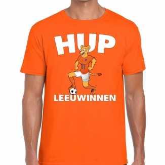 Nederland supporter t shirt hup leeuwinnen oranje heren