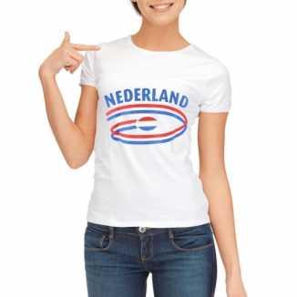 Nederland vlaggen t-shirts dames