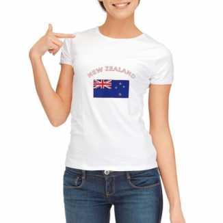 Nieuw zeelandse vlaggen t shirt dames