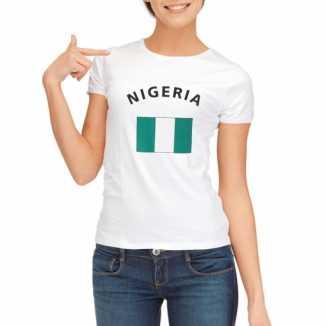 Nigeriaanse vlaggen t-shirt dames