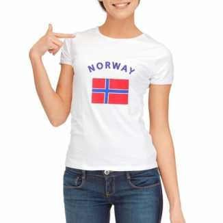 Noorse vlaggen t shirt dames
