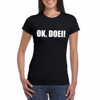 Ok doei dames t shirt zwart