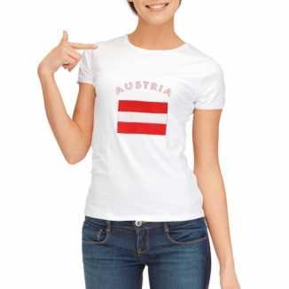 Oostenrijkse vlaggen t shirt dames