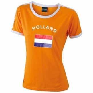 Oranje dames shirtje Holland vlag