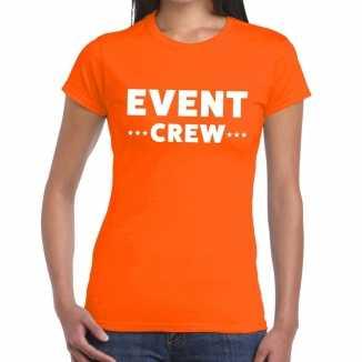 Oranje evenement shirt event crew bedrukking dames
