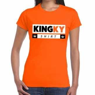 Oranje kingky t shirt dames