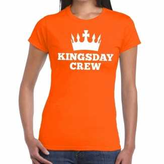 Oranje kingsday crew t shirt dames