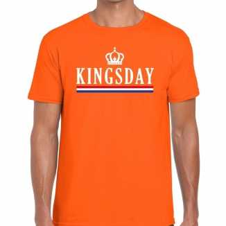 Oranje kingsday hollandse vlag t shirt heren
