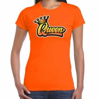 Oranje koningsdag queen t shirt dames