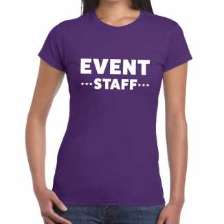 Paars evenement shirt event staff bedrukking dames
