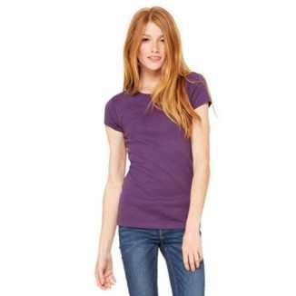 Paarse dames t-shirtjes Hanna ronde hals