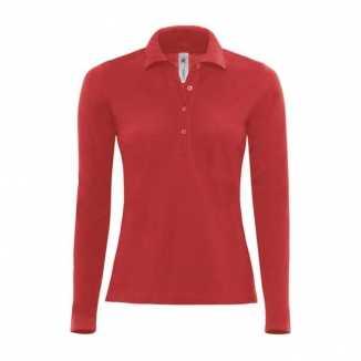 Poloshirt dames in de kleur rood