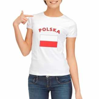 Poolse vlaggen t-shirt dames