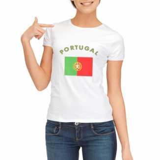 Portugese vlaggen t shirt dames