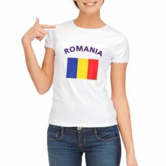 Roemeense vlaggen t shirt dames