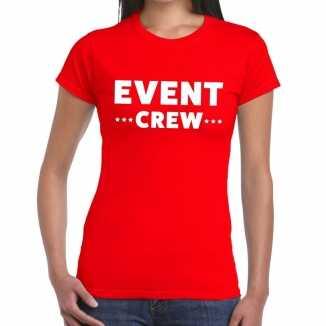 Rood evenement shirt event crew bedrukking dames