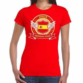Rood spain drinking team t shirt dames