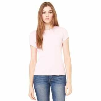 Roze dames t-shirtjes Hanna ronde hals