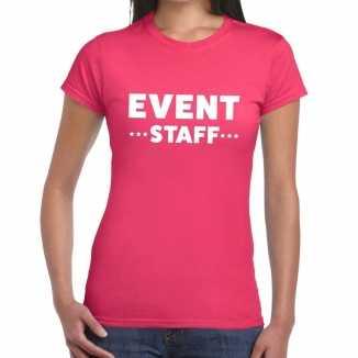 Roze evenement shirt event staff bedrukking dames