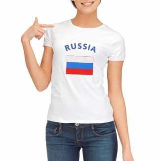 Rusische vlaggen t shirt dames