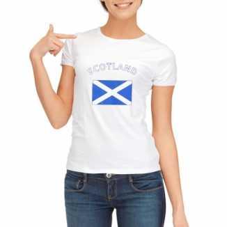 Schotse vlaggen t shirt dames