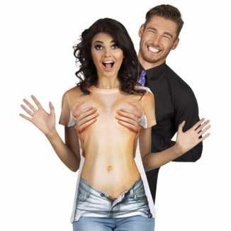 Sexy shirt naakte vrouw opdruk