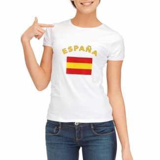 Spanje vlaggen t shirt dames