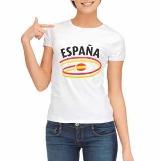 Spanje vlaggen t-shirts dames