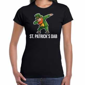 St. patricks dab / st. patricks day t shirt / kostuum zwart dames