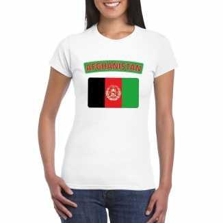 T shirt wit afghanistan vlag wit dames
