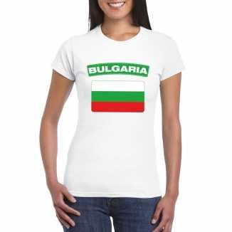 T shirt wit bulgaije vlag wit dames