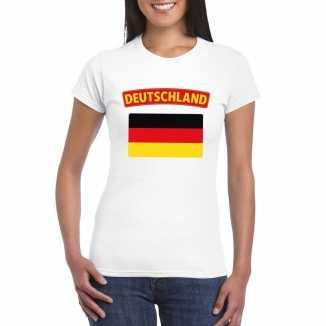 T shirt wit duitsland vlag wit dames