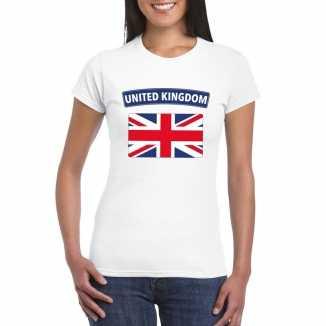 T shirt wit engeland vlag wit dames