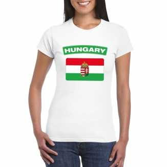 T shirt wit hongarije vlag wit dames