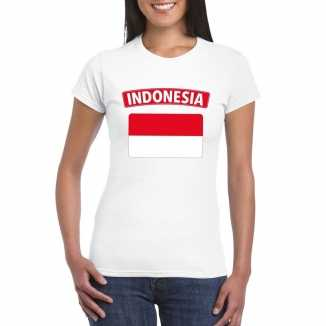 T shirt wit indonesie vlag wit dames